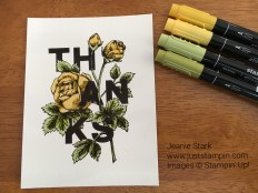 Floral Statements thank you card