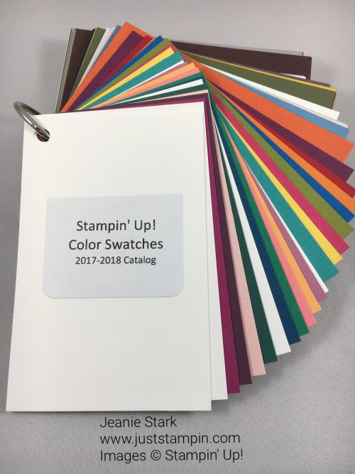 To order Stampin' Up! Color Swatch book visit www.juststampin.com. This great tool will help you with color coordination.