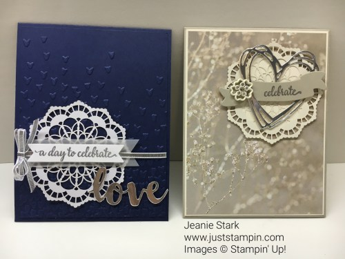 Stampin Up So In Love Stamp Set and Sunshine Wishes Thinlits wedding or anniversary card idea - Jeanie Stark StampinUp