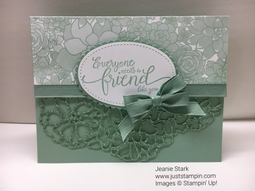 Stampin Up Suite Sentiments Friend card idea- Jeanie Stark StampinUp