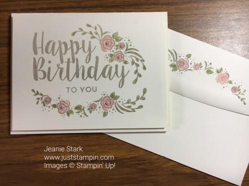 Stampin Up Big on Birthdays card idea - Jeanie Stark StampinUp