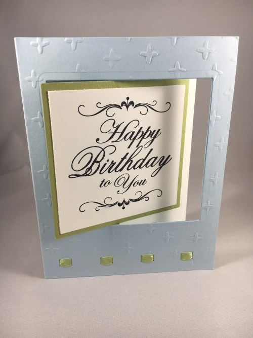 Happy Birthday Fun Fold Lever Card. For more fun fold cards, inspiration, project directions, and Stampin Up supplies visit www.juststampin.com