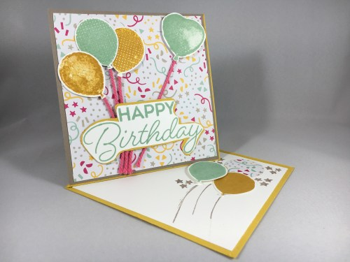 Fun Fold Easel Card for Just Stampin' Card Swap. For more fun fold card ideas and inspiration visit www.juststampin.com
