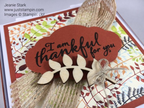 Stampin Up Pizza Box treats with the Painted Autumn Designer Series Paper, Painted Harvest Stamp Set, and Touches of Nature Elements. For directions and supplies visit www.juststampin.com
