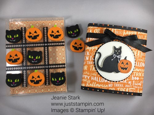 Stampin Up Spooky Night gift idea using Clear Acetate box, Pick a Pattern Washi Tape, and Spooky Night Designer Series Paper - Jeanie Stark StampinUp