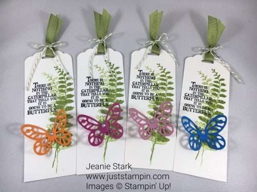 Stampin Up Basic Butterfly Bookmark Idea- Jeanie Stark StampinUp