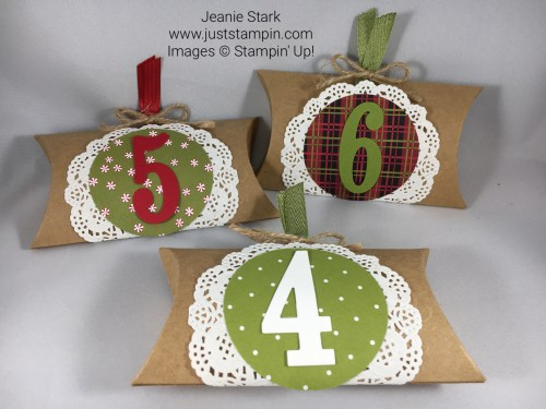 Paper Pumpkin Layered Leaves Advent Boxes Idea - Jeanie Stark StampinUp