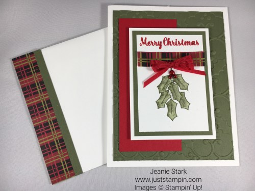Stampin Up Holly Berry Happiness Christmas card idea - Jeanie Stark StampinUP