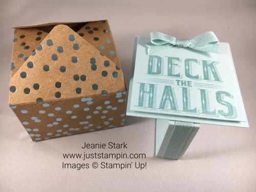 Stampin Up Carols of Christmas and Foil Frenzy Envelope Punch Board Gift Box idea - Jeanie Stark StampinUp