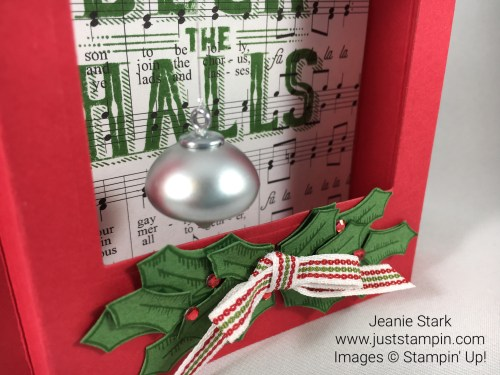Stampin Up Carols of Christmas Fun Fold Shadowbox Christmas Card Idea - Jeanie Stark StampinUp