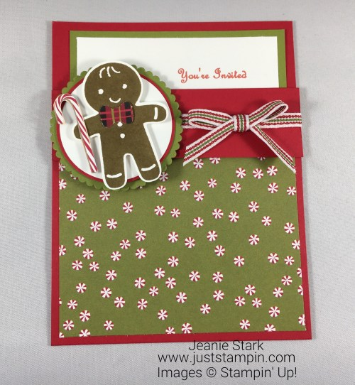 Stampin Up Cookie Cutter Christmas card idea - Jeanie Stark StampinUp