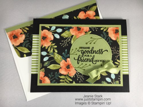 Stampin Up So Many Shells Thank You Friend card idea - Jeanie Stark StampinUp