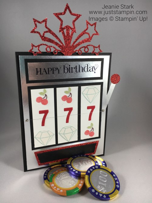 Stampin Up birthday card slot machine idea - Jeanie Stark StampinUp