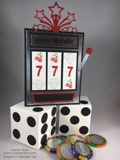 Stampin Up Casino Birthday Gift Set idea - Jeanie Stark StampinUp