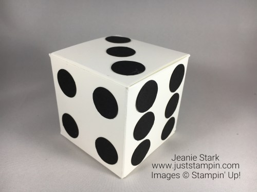 Stampin Up Simply Scored Cube Box idea - Jeanie Stark StampinUp