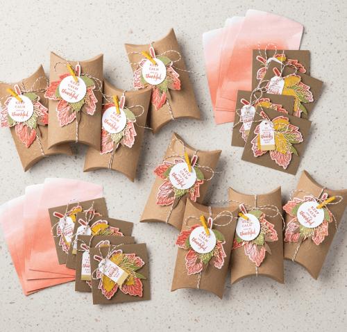 Stampin Up Layered Leaves Paper Pumpkin kit - Jeanie Stark StampinUp