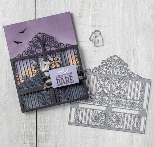 Stampin Up Graveyard Gate card Idea - Jeanie Stark StampinUp