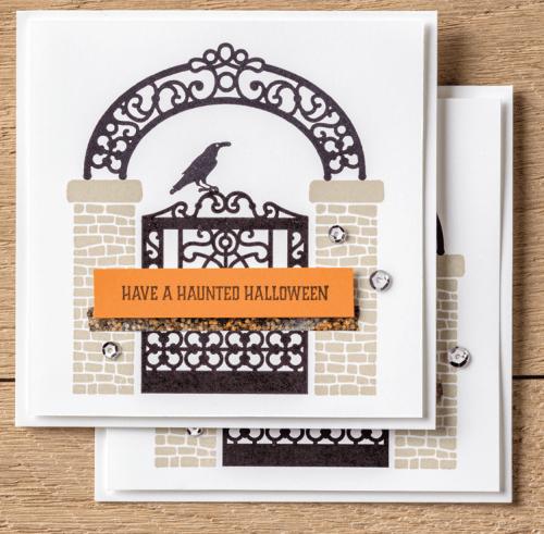Stampin Up Graveyard Gate card Idea - Jeanie Stark StampinUp