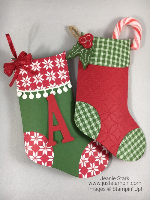 Stampin Up Trim Your Stockings gift idea - Jeanie Stark StampinUp