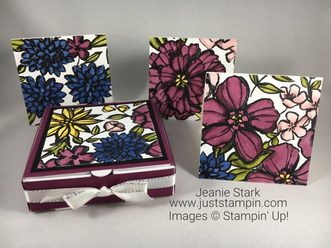 Stampin Up Petal Passion 3 x 3 card gift set - Jeanie Stark StampinUp
