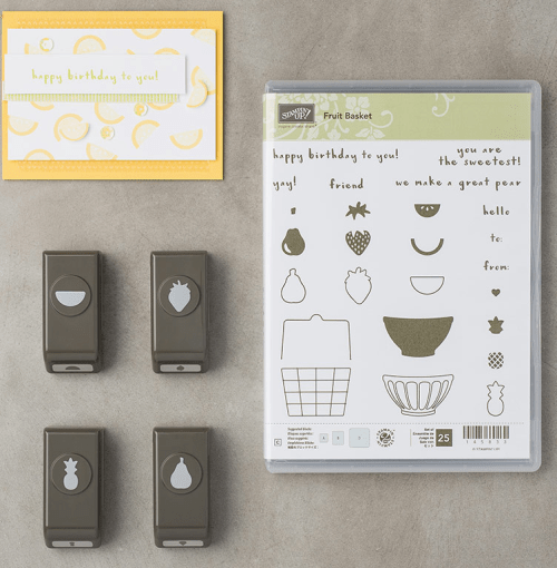 Stampin Up Fruit Basket Bundle - For inspirational ideas and ordering visit my blog, www.juststampin.com -Jeanie Stark StampinUp