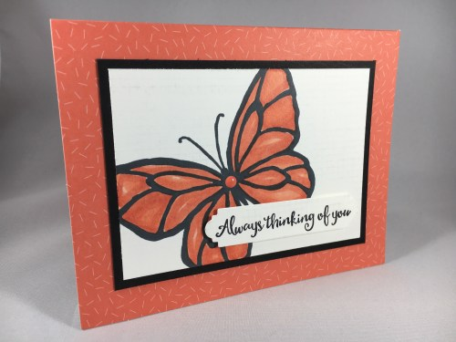 Stampin Up Beautiful Day thinking of you card idea - For inspiration, project details, ordering and more, visit www.juststampin.com Jeanie Stark StampinUp