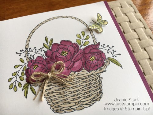 Stampin Up Blossoming Basket Bundle card idea - Jeanie Stark StampinUp