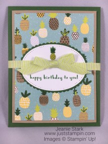 Stampin Up Envelope Punch Board and Fruit Basket Bundle birthday card idea with a special treat - Jeanie Stark StampinUp