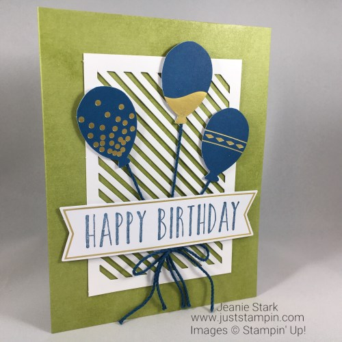 Stampin Up Perennial Birthday Masculine Card idea - Jeanie Stark StampinUp