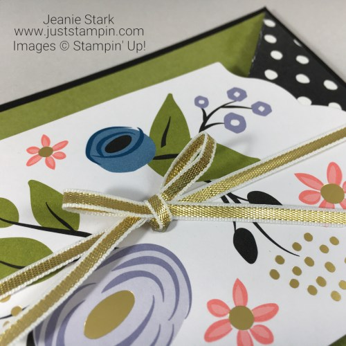 Stampin Up Perennial Birthday Fun Fold Card idea - Jeanie Stark StampinUp