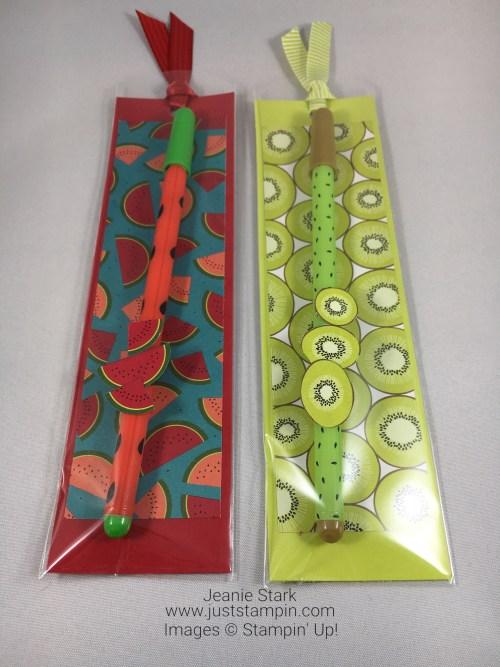 Stampin Up Tutti-Frutti Designer Series Paper bookmark & gift idea - Jeanie Stark StampinUp