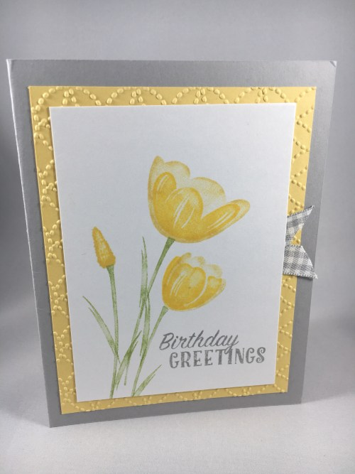 Stampin Up Birthday Greetings card idea -visit www.juststampin.com Jeanie Stark StampinUp