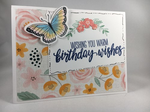 Birthday card idea - visit juststampin.com for inspiration, tips,and to order Stampin Up supplies.