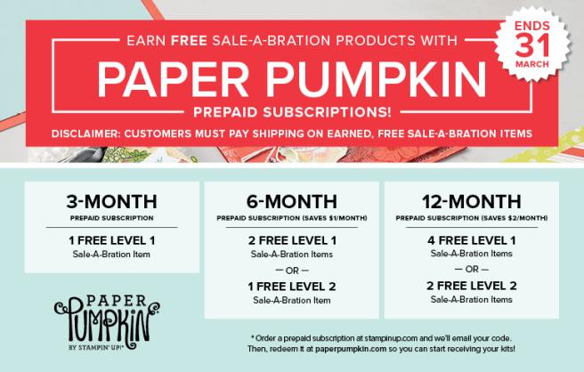 Paper Pumpkin prepaid SAB