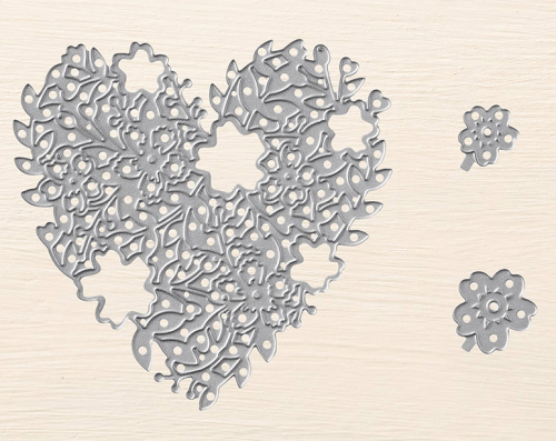 Stampin Up Bloomin Heart Thinlits - Last Chance Product! To order visit www.juststampin.com Jeanie Stark StampinUp
