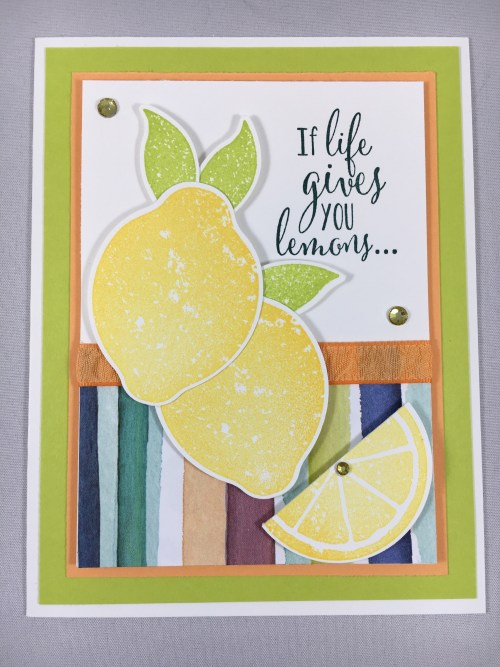 Stampin Up Lemon Zest inspirational card idea - For ideas, ordering and more, visit www.juststampin.com Jeanie Stark StampinUp