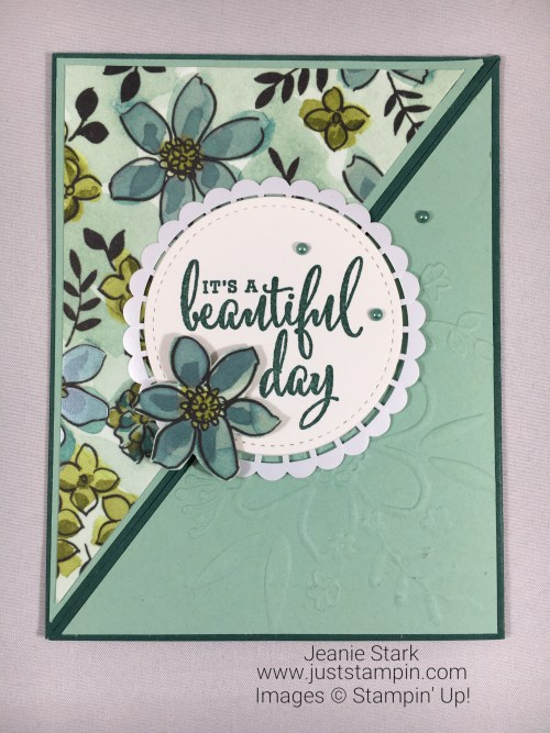 Stampin Up Love What You Do and Perennial Birthday Fun Fold Card idea - Jeanie Stark SrampinUp