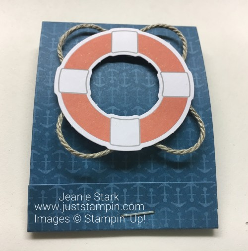 Stampin Up Paper Pumpkin You Are My Anchor Matchbook Treat Holder - Jeanie Stark StampinUp
