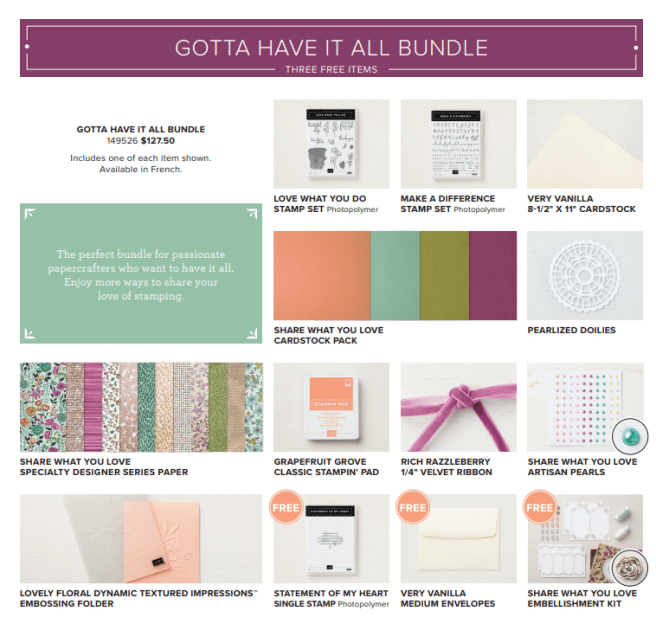 Share What You Love Gotta Have It All bundle
