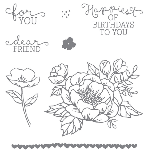 Birthday Blooms Stamp Set