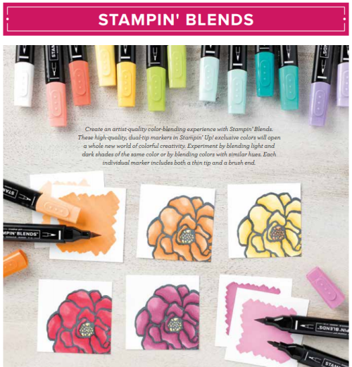 Stampin Up Stampin Blends - new colors available! Jeanie Stark www.juststampin.com StampinUp