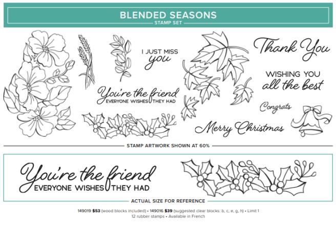 Blended Seasons Stamp Set