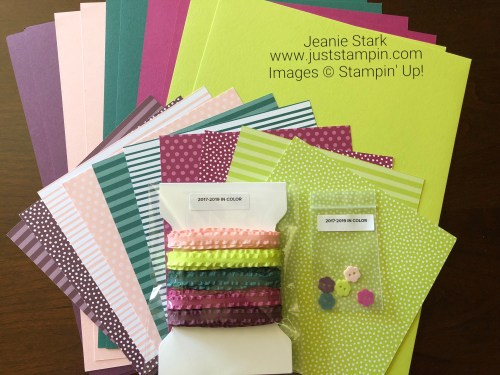 Stampin Up 2017-2019 In Color Product Share - Visit www.juststampin.com to order. Jeanie Stark StampinUp