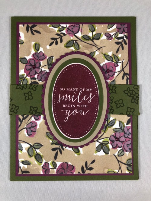 Stampin Up Detailed With Love Fun Fold Card idea for a friend - Jeanie Stark StampinUp