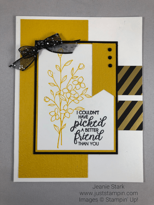 Stampin Up Touches of Texture layered and embossed Birthday card idea - Jeanie Stark StampinUp