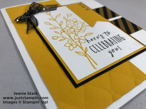 Stampin Up Touches of Texture and Perennial Birthday Tufted embossed Birthday card idea - Jeanie Stark StampinUp