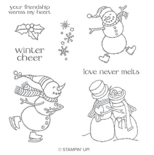 Stampin Up Spirited Snowman Stamp Set - Get it before it retires! Jeanie Stark - StampinUp