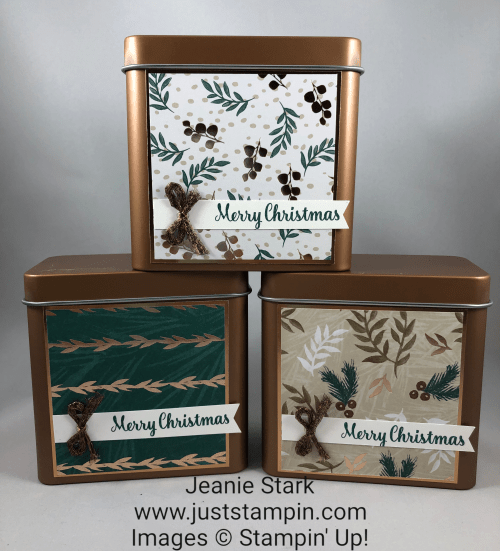 Stampin Up copper tins treat holder idea - Jeanie Stark StampinUp