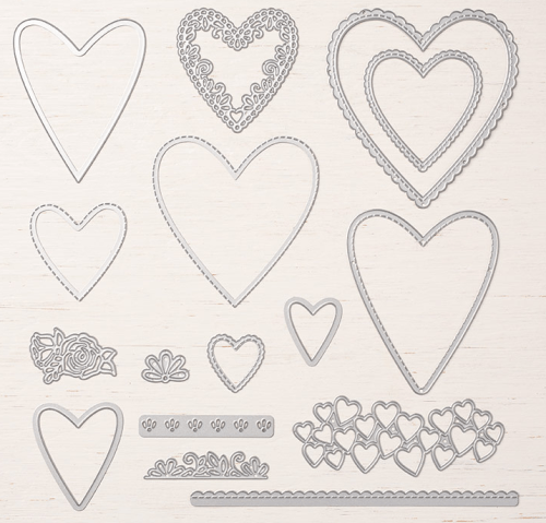Stampin Up Be Mine Stitched Framelits Dies can be used for all occasions - Jeanie Stark StampinUp