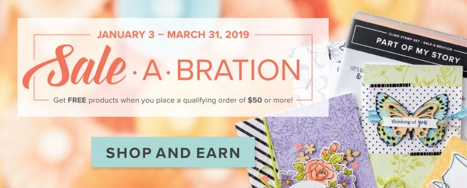 Shop & Earn Free Products during Sale-A-Bration! Visit juststampin.com for all the details! Jeanie Stark Stampin Up